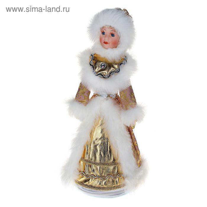 Снегурочка-конфетница, с золотым пояском