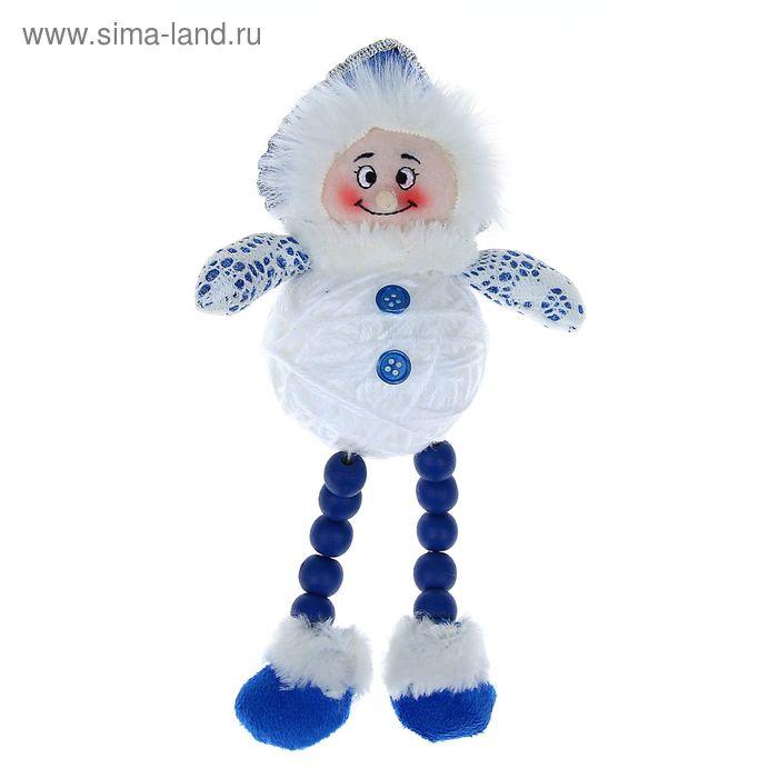 """Мягкая игрушка """"Снегурочка"""" (бело-синяя, клубок)"""