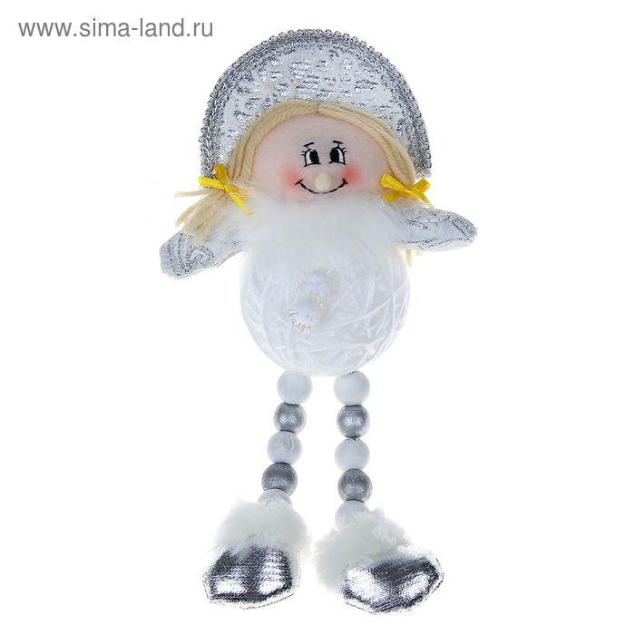 """Мягкая игрушка """"Снегурочка"""" (клубок, кружевная, ножки-бусины)"""