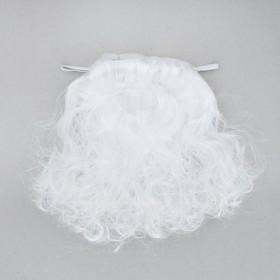 """Карнавальная борода """"Дед Мороз"""" на резинке, 30 г, 26 см"""