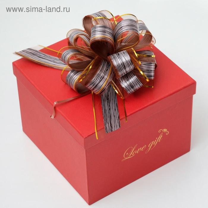 "Бант-шар №5 ""Узор"", цвет кофейный"
