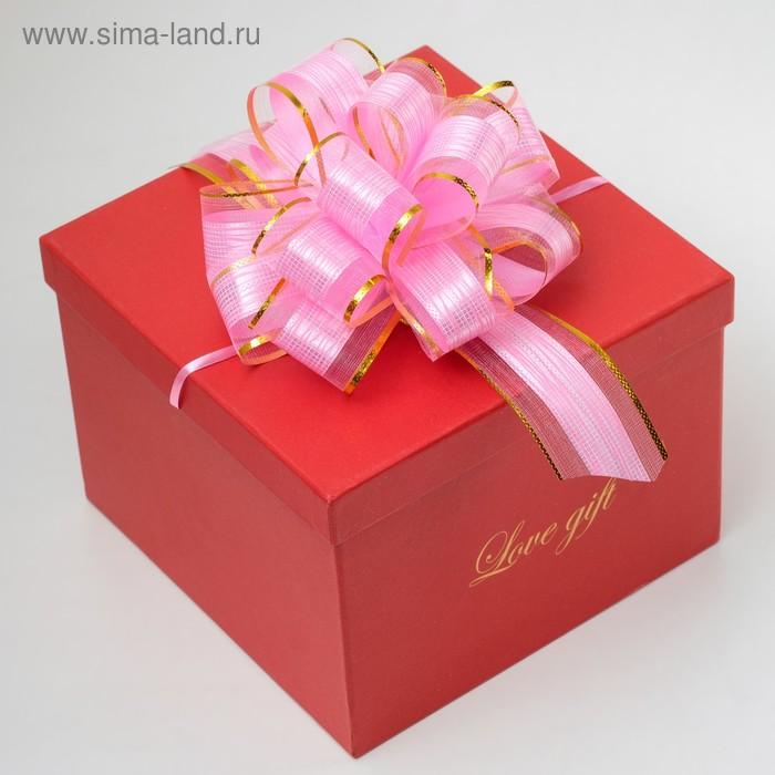 """Бант-шар №5 """"Узор"""", цвет розовый"""