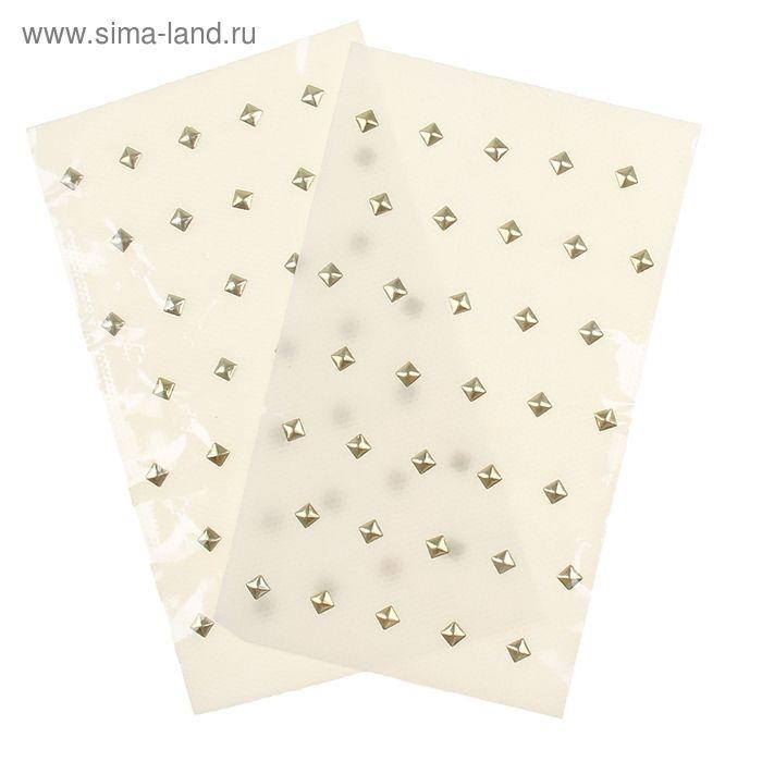 Стразы для волос на тканевой основе (набор 2 листа) МИКС