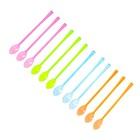 Набор пластиковых ложек (набор 12 шт), цвета МИКС