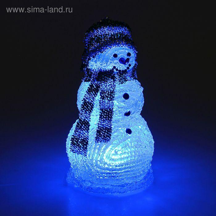 "Фигура акрил. ""Снеговик"" 20х10х10 см, LED (батарейки ААА LR44*3 шт.не в компл.)"