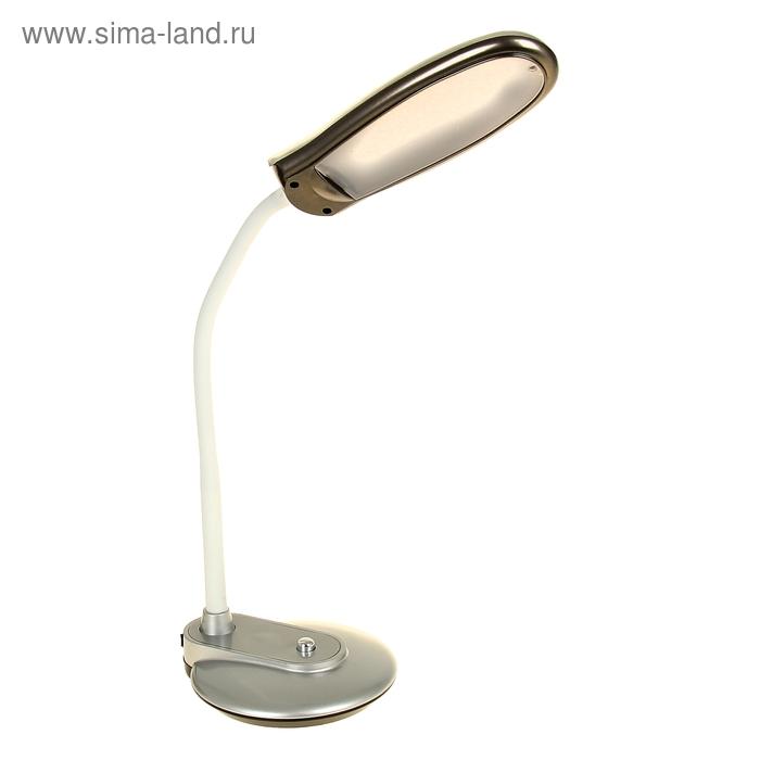 Лампа настольная Inspire с выкл. серебристая, LEDx8
