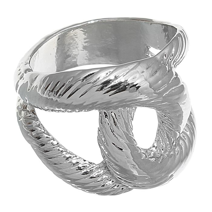 "Кольцо ""Сплетение"", цвет серебро, размер МИКС"