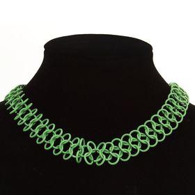 Бусы 'Плетеный стиль', цвет зеленый Ош