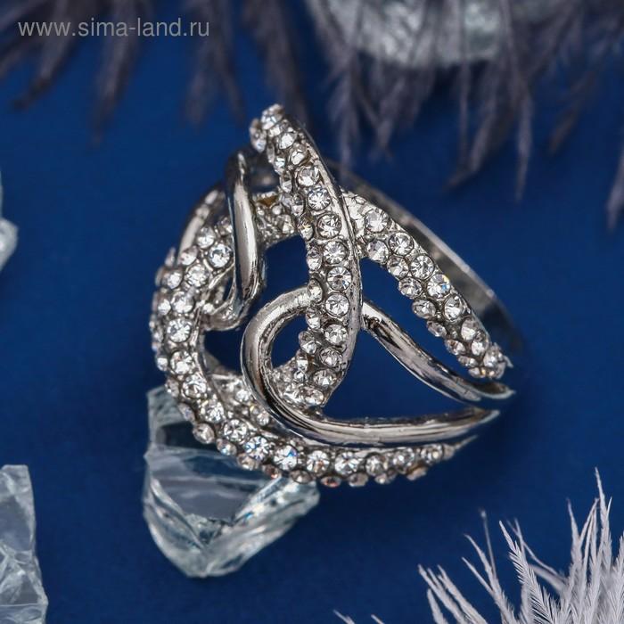 """Кольцо """"Шарм"""", цвет белый в серебре, размер 16,17,18 МИКС"""