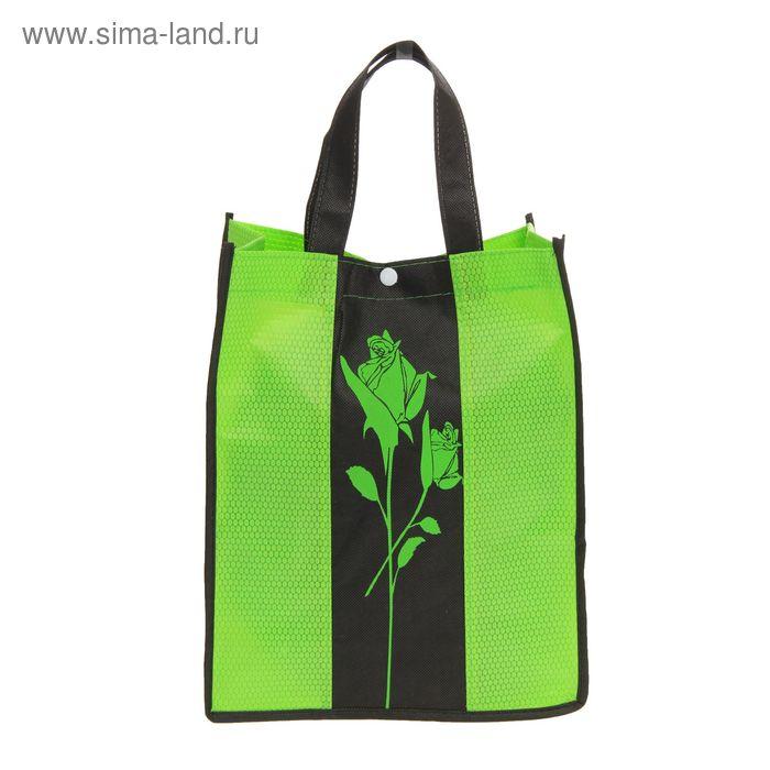 """Сумка хозяйственная """"Роза"""", цвет зеленый"""