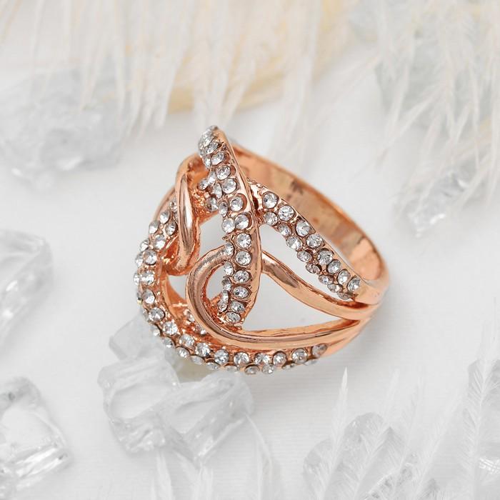 """Кольцо """"Шарм"""", цвет белый в золоте, размер 16,17,18 МИКС"""