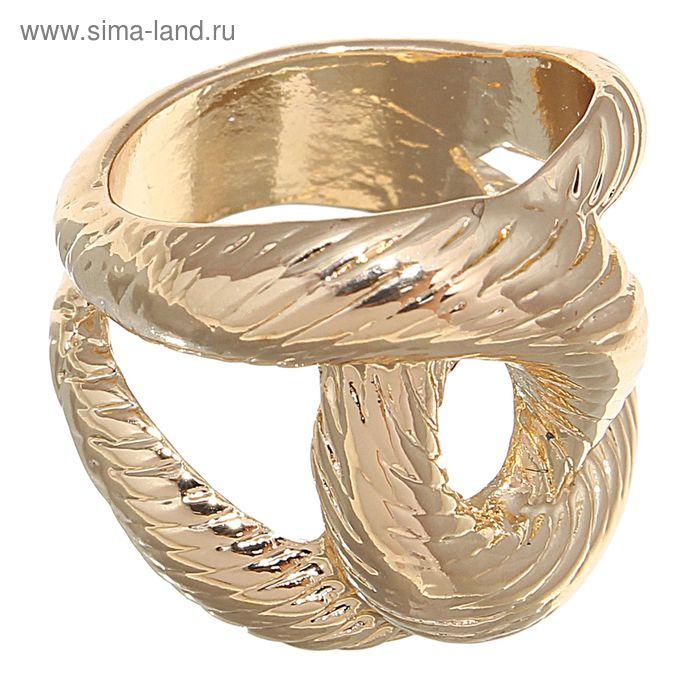 """Кольцо """"Сплетение"""", цвет золото, размер МИКС"""