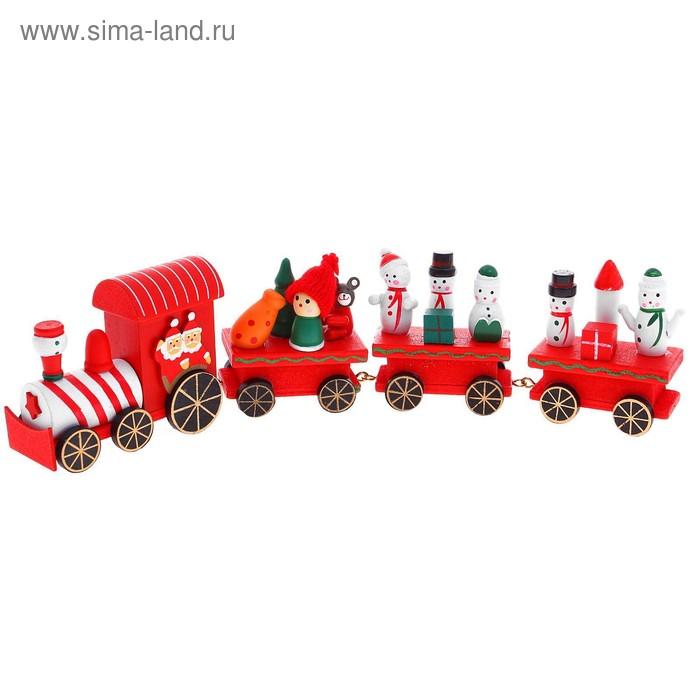 Сувенир новогодний поезд, 33,5 см