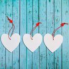 """Подвеска """"Сердце"""", набор 3 шт."""