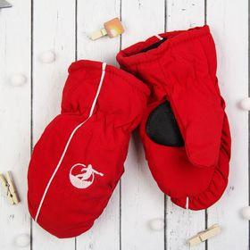"""Варежки детские """"Спорт"""", размер 18, цвет красный 65376"""