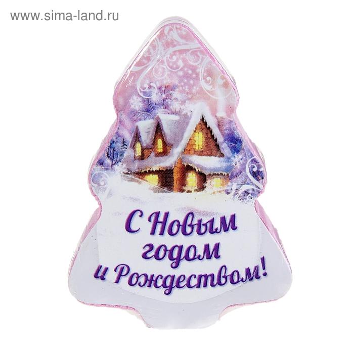 """Прессованное полотенце Collorista """"С Новым годом и Рождеством"""""""