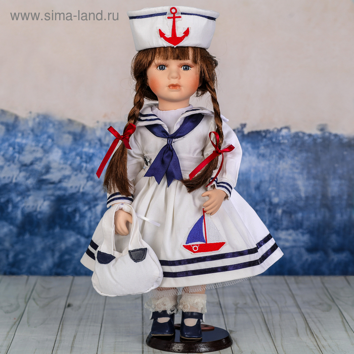 """Кукла коллекционная """"Наташа морячка"""""""