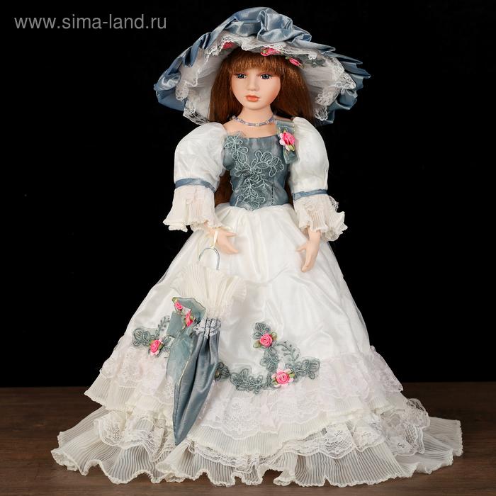 """Кукла коллекционная """"Валерия в платье с вышивкой"""""""