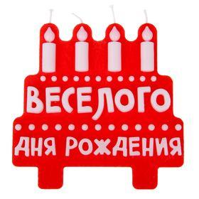 """Свеча в торт """"Веселого дня рождения"""". ГИГАНТ"""