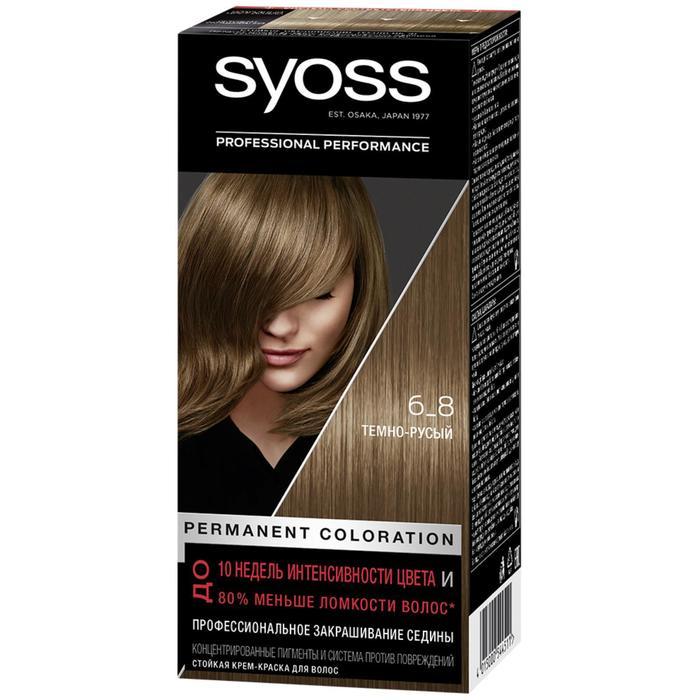 """Cтойкая крем-краска для волос Syoss Color """"Тёмно-русый 6-8"""", 50 мл"""