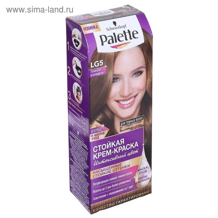 Краска для волос Palette LG5 Темная карамель, 50 мл