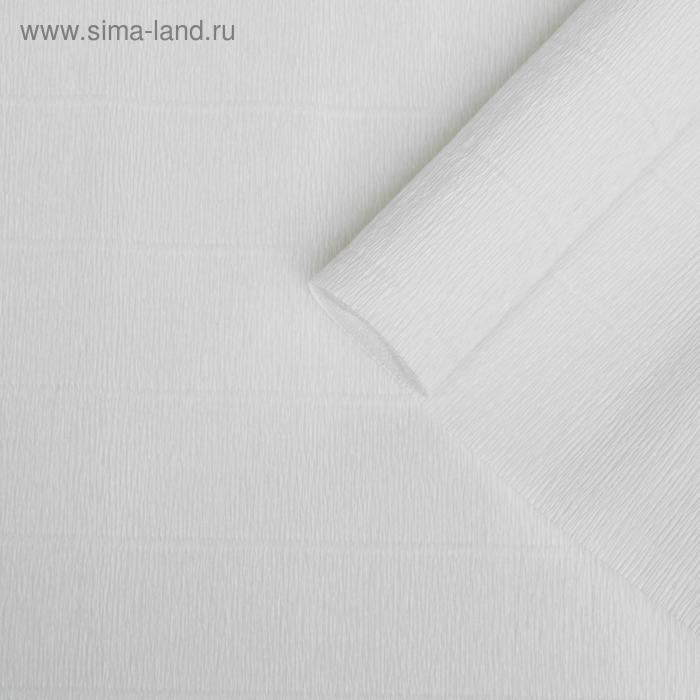 Бумага гофрированная 600 белая, 50 см х 2,5 м