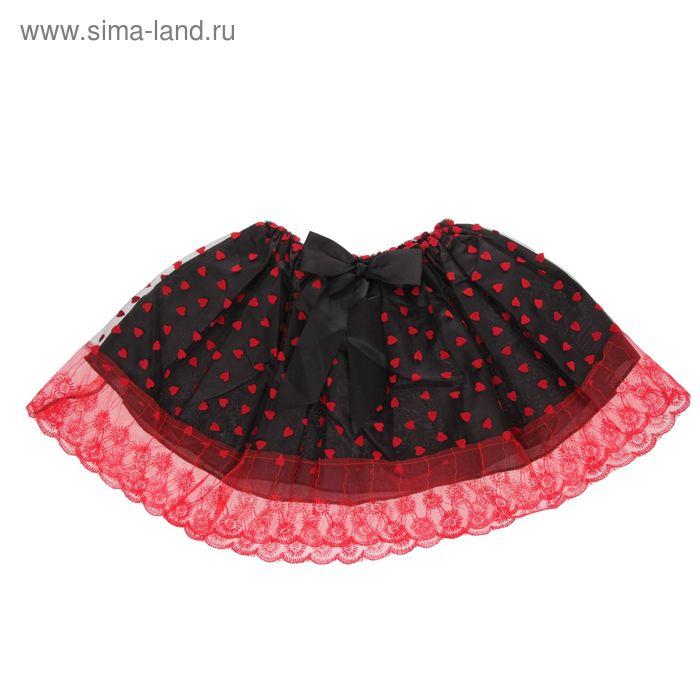 """Карнавальная юбка """"Малышка"""" в сердечко с бантом 4-6 лет"""