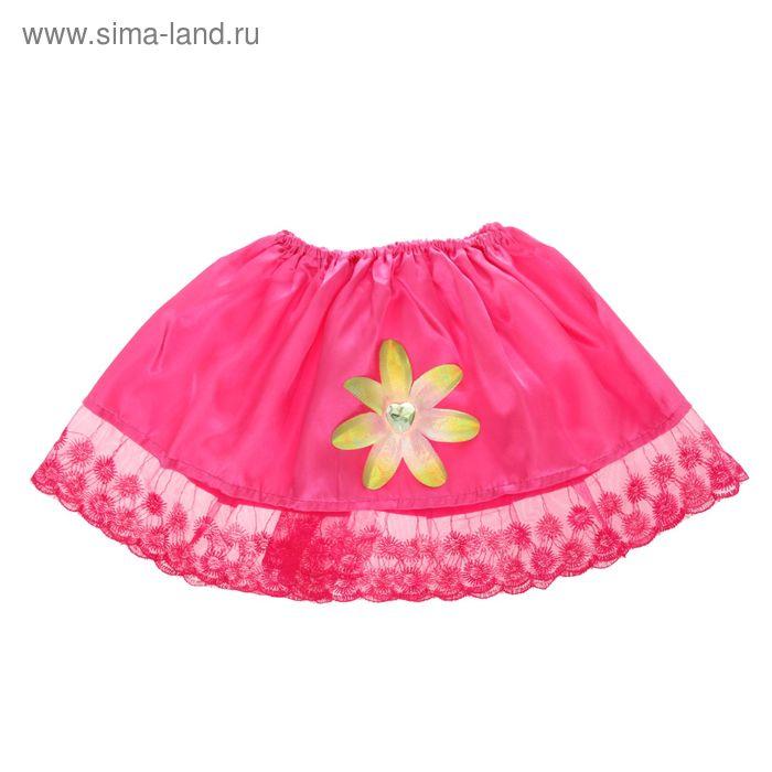 """Карнавальная юбка """"Милашка"""" с цветком 4-6 лет"""