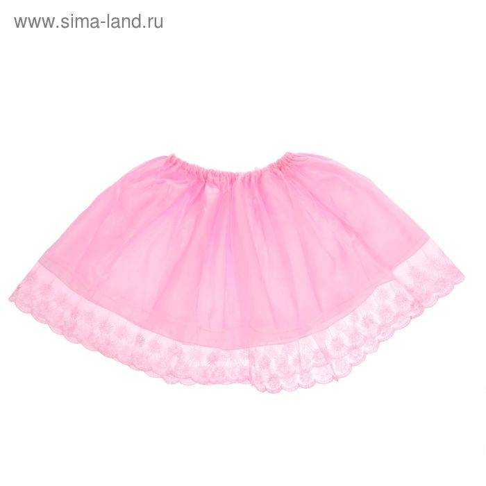"""Карнавальная юбка """"Кружево"""" 4-6 лет, цвет розовый"""
