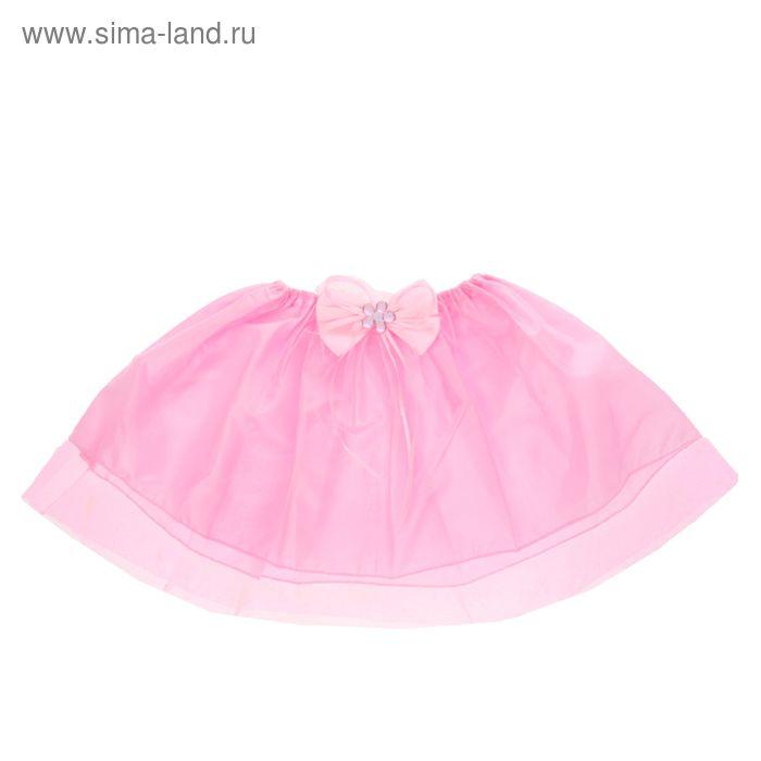 """Карнавальная юбка """"Модница"""" с бантиком 4-6 лет, цвет розовый"""