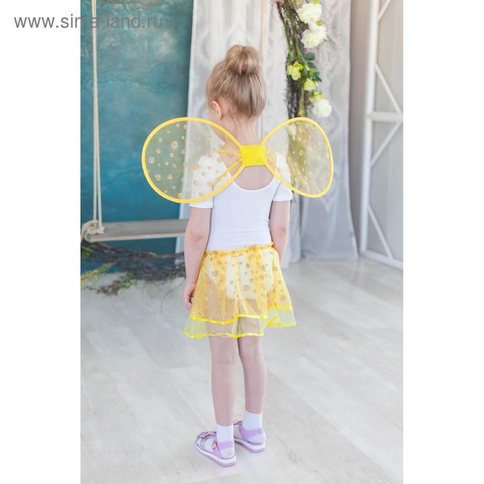 """Карнавальный набор """"Маленькое чудо"""", 2 предмета: крылья, юбка, 3-6 лет, цвет жёлтый"""