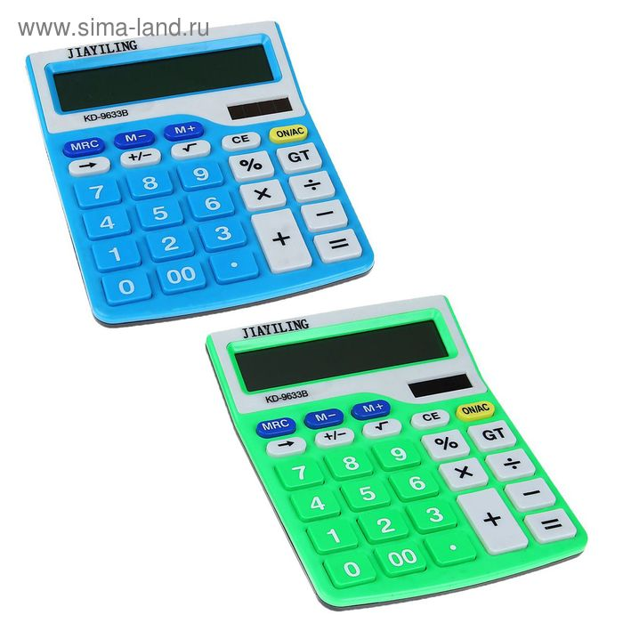 Калькулятор настольный 12-разрядный KD-9633B двойное питание корпус МИКС