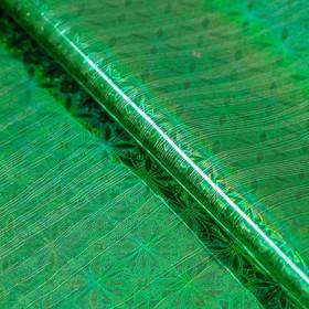 Бумага голографическая, цвет зелёный, рисунок МИКС