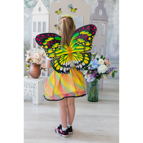 """Карнавальный набор """"Яркий мотылек"""" 3 предмета: крылья, жезл, ободок"""