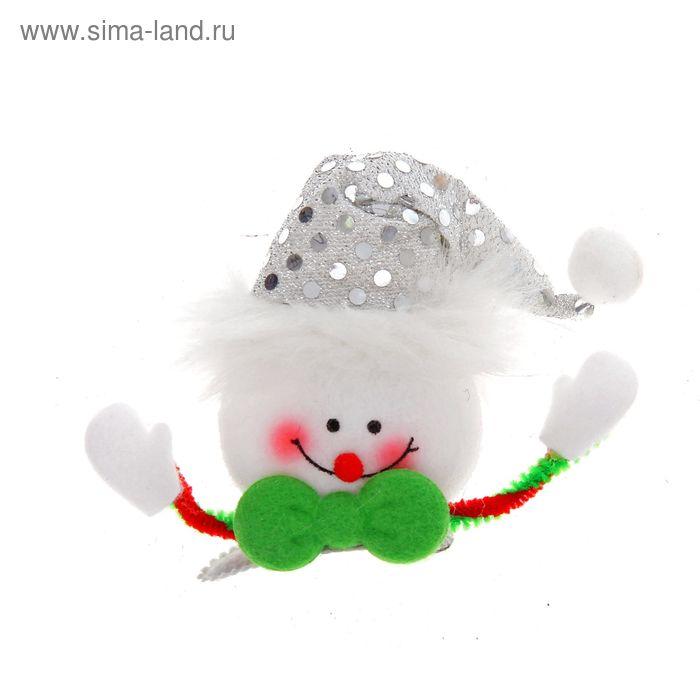 """Зажим световой """"Снеговик с ручками"""""""