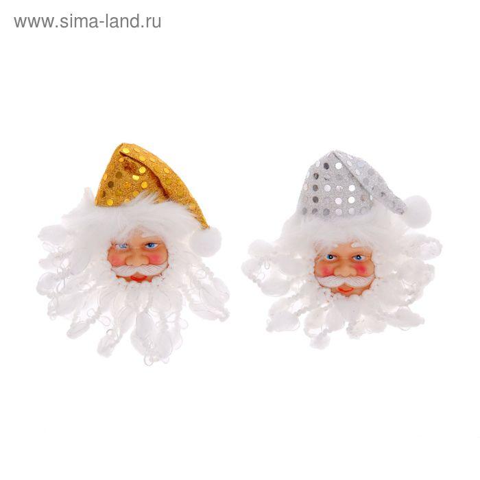 """Значок световой """"Дед Мороз"""", цвета МИКС"""