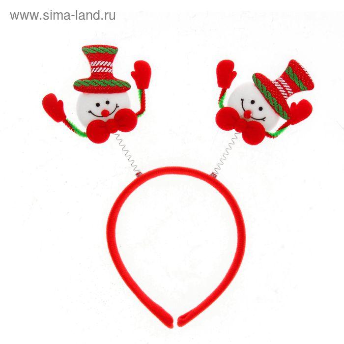 """Карнавальный ободок """"Снеговик с ручками"""""""