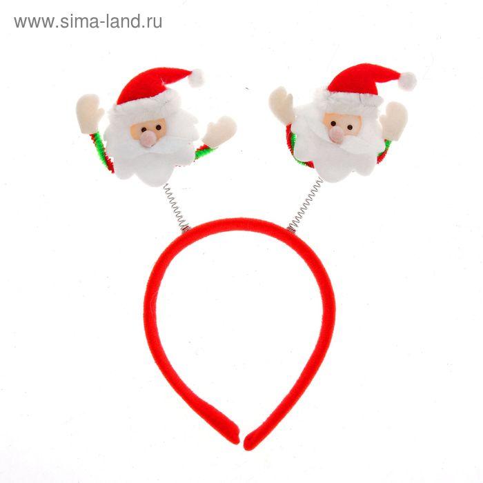 """Карнавальный ободок """"Дед Мороз"""" с ручками"""