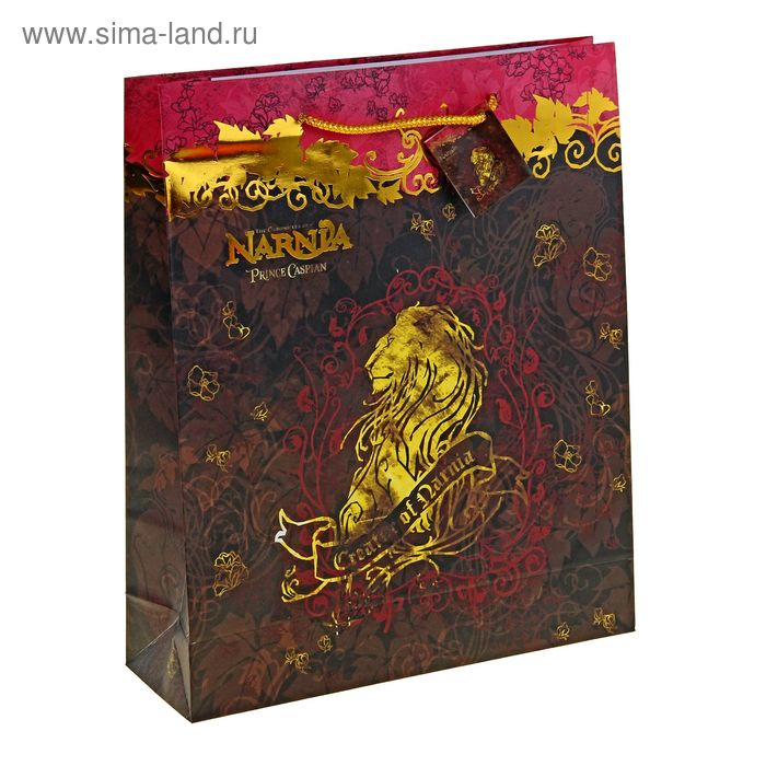 """Пакет подарочный """"Хроники Нарнии"""" 28х34 см, Disney Narnia"""