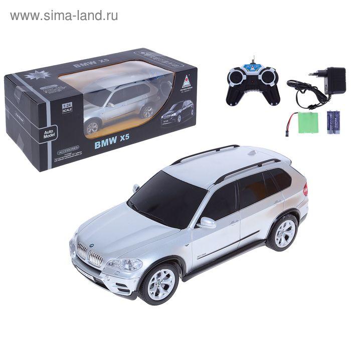 Машина радиоуправляемая BMW X5, с аккумулятором, 1:24, световые эффекты, цвета МИКС