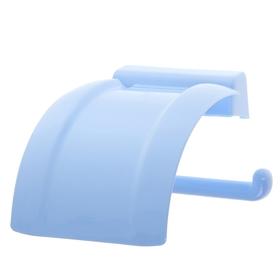 Держатель для туалетной бумаги, цвет голубой Ош