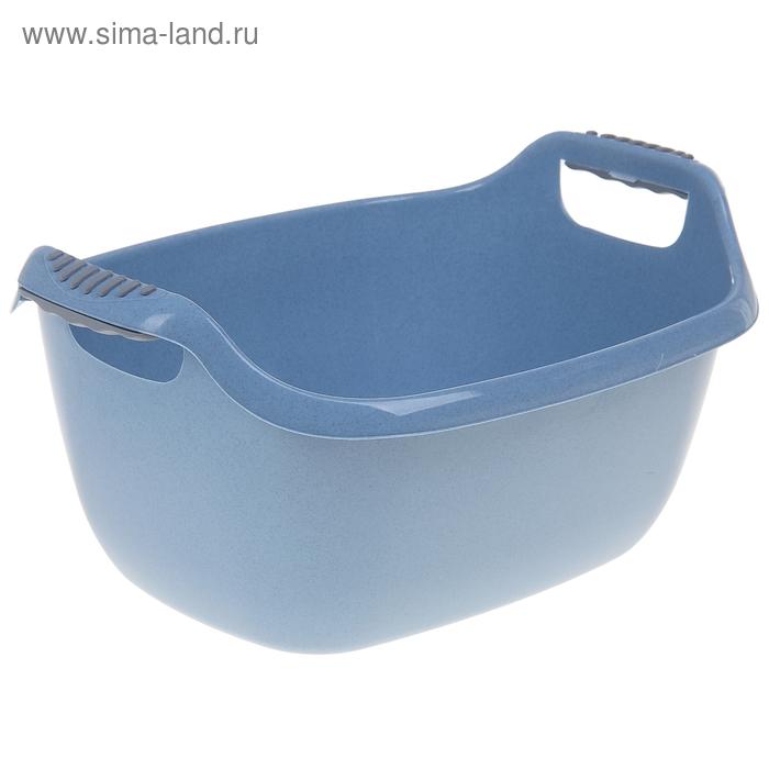 Таз 16 л, овальный, цвет голубой мрамор