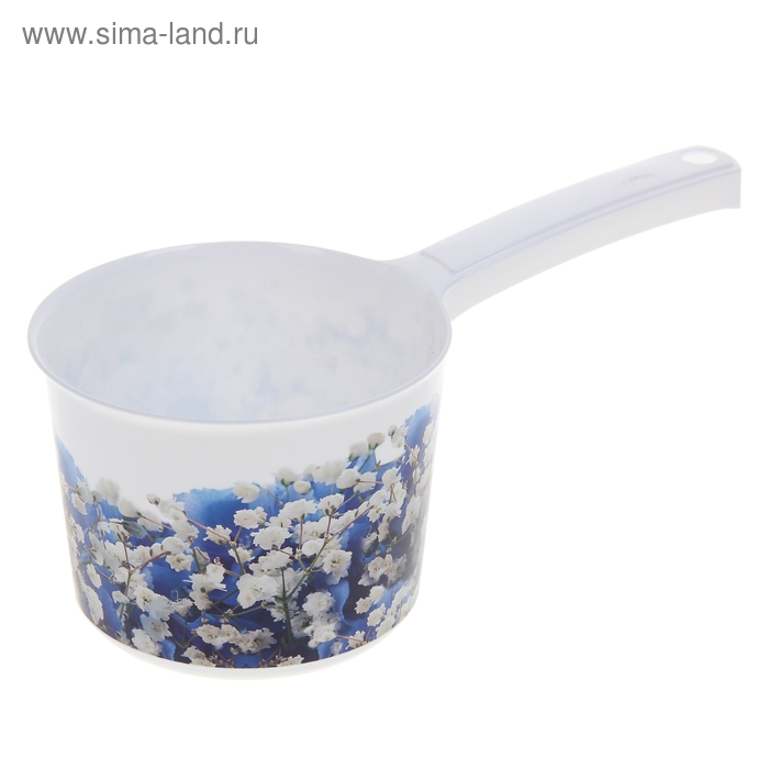 """Ковш 1,5 л """"Деко. Голубые цветы"""""""