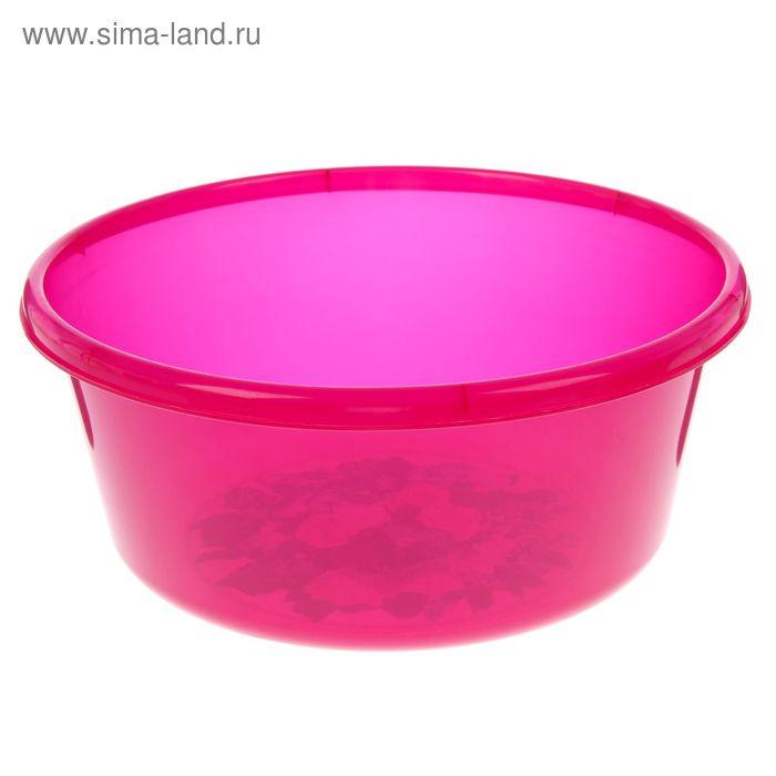 """Таз 8 л, круглый """"Деко"""" прозрачный, цвет розовый"""