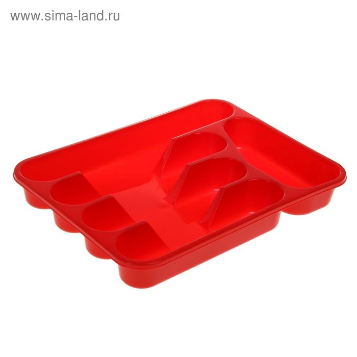 Лоток-вкладыш для столовых приборов, цвет красный