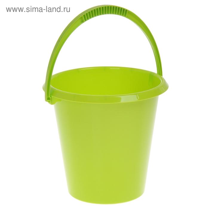 Ведро 7 л хозяйственное, цвет салатовый