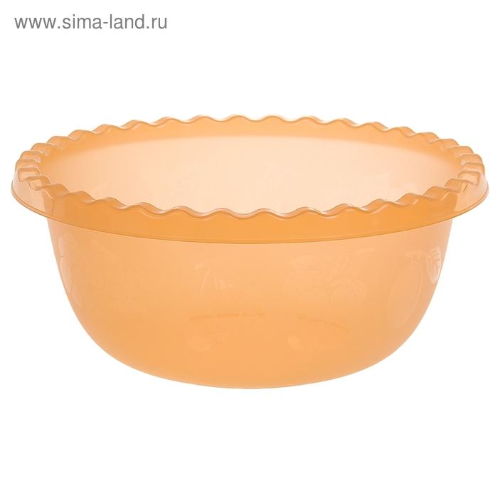Миска 3 л круглая, цвет оранжевый
