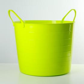 Корзина 27 л мягкая, цвет ярко-зеленый