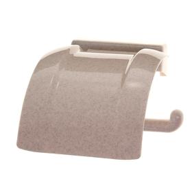 Держатель для туалетной бумаги, цвет бежевый мрамор Ош
