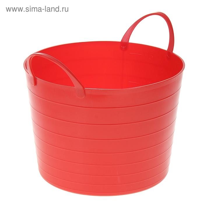 Корзина 17 л мягкая, цвет красный